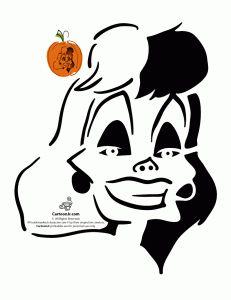 Cruella De Vil Disney Villain Pumpkin Pattern