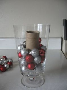 IMG_1098 use filler for Apothecary jar , won't need as many ornaments