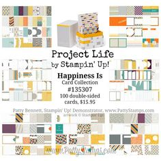 Great starter kit for Project Life - Happiness Is card kit Project Life by Stampin Up!. #PLxSU