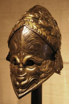 """The Morosini Helmet"" (Visored burgonet) Probably Italy (Milan), ~1550-60."