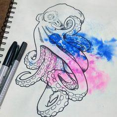 "56 Me gusta, 1 comentarios - KB TATTOO (@kb.tattooo) en Instagram: ""Octopus . . #art #illustration #drawing #draw #socialenvy #PleaseForgiveMe #picture #artist #sketch…"""