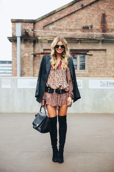 dress with prints, elle ferguson, theyallhateus, boho