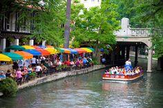 Cafe' At San Antonio, TEXAS ~ RiverWalk ~ How could ANYONE say, 'NO' to this.... ??????????????????????????