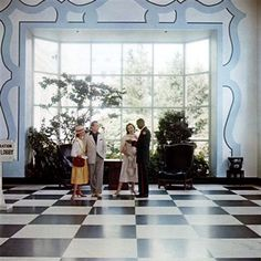 """dorothy draper painted """"molding"""" at greenbrier"""