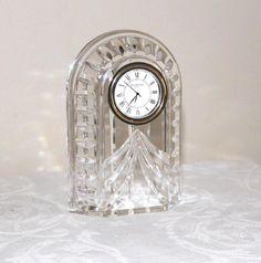 waterford crystal clocks | Waterford crystal clock.Waterford Overture crystal clock