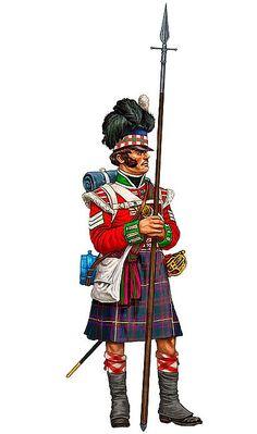 """""""Sergente della compagnia granatieri del 1º battaglione del 79º reggimento di fanteria 'Cameron Highlanders', Waterloo 1815"""", Giorgio Albertini"""