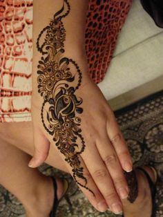 Palm face henna design