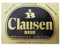 1975 ETIQUETAS DE CERVEZA COLOMBIANA: CLAUSEN