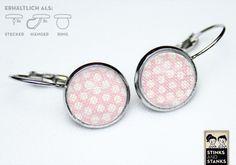 Ohrringe rosa Punkte SC211 von STINKSANDSTANKS auf DaWanda.com
