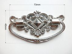 """73mm x 45mm Silver color high quality """"crown diamond"""" box handle/ vintage drawer pulls Cabinet Pull Handles/ Vintage Furniture Handle DP0236 by LittleHardware on Etsy"""