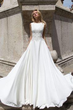 Robe de mariée élégante – Création May (devant)