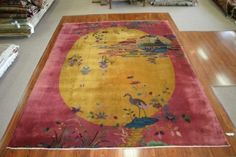 Art-Deco Nichols #Chinese #rug from the 1920s #handwoven #antique