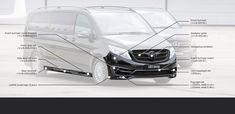 New design Mercedes V-Class body kit 2020 by LARTE Design Black Crystals, Mercedes Benz, Kit, Design, Design Comics