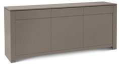 Bass-L Modern Sideboard in Taupe Lacquer Finish by Domitalia, Made in Italy