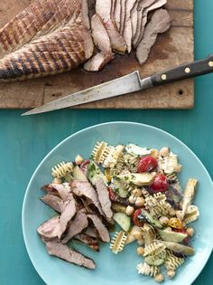 Grilled Pork with Pasta Salad #myplate #grill