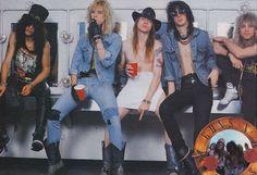 """gnrfans: """"Guns N' Roses - Slash, Duff Mckagan, Axl Rose, Izzy Stradlin & Steven Adler """" Axl Rose, Guns N Roses, Hard Rock, Richard Fortus, Metallica, Steven Adler, Velvet Revolver, Duff Mckagan, Slash"""