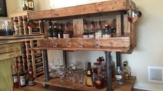 Wood Steel, Wood Projects, Liquor Cabinet, Storage, Furniture, Home Decor, Wooden Projects, Homemade Home Decor, Larger