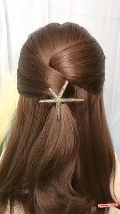 Hair Up Styles, Long Hair Wedding Styles, Medium Hair Styles, Plait Styles, Hair Medium, Bun Hairstyles For Long Hair, Kids Hairstyle, Office Hairstyles, Anime Hairstyles