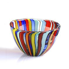 Love the colors--Murano Glass Bowl Murano Glass Vase, Glass Ceramic, Fused Glass, Stained Glass, Blown Glass, Vases, Art Of Glass, Venetian Glass, Glass Birds