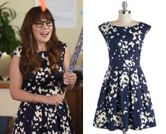 Jess Day (Zooey Deschanel) wears this navy and white butterfly print dress in this week's episode of New Girl. It is the Closet London Fluttering Romance Dress in Butterfly Silhouettes. Buy it HERE. Chiffon Maxi Dress, Ruched Dress, Fashion Tv, Girl Fashion, Fashion History, Spring Fashion, Fashion Ideas, Butterfly Print Dress, Orange Butterfly