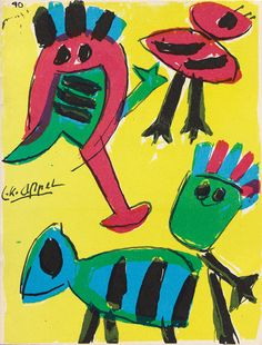 Karel Appel. Front cover from Frie Kunstnere, Volume 3 by Christian Dotremont. 1950 Van Eyck was closely associated with CoBrA, an internati...