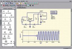 Quite Universal Circuit Simulator: A Free Mixed Signal Electronic Circuit… Electronic Engineering, Electrical Engineering, Electronic Circuit, Electronic Art, Diy Electronics, Electronics Projects, Arduino Projects, Time Diagram, Circuit Simulator