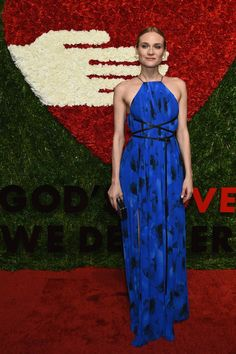 Pin for Later: 10 Looks You Need to See From Last Night's Golden Heart Awards Diane Kruger The actress looked every part a goddess, dressed in a blue dress from the Holiday 2015 Michael Michael Kors collection.