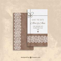 Brown wedding invitation  Premium Vector