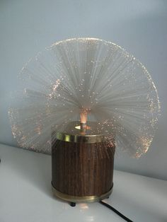 vintage 1970s fiber optic rotating lamp / ...remember how fascinating these were when they first came out?
