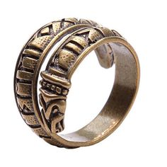 Bronze rune ring. Viking bronze jewerly. Elder Futhark ring. Dragon... ($28) ❤ liked on Polyvore featuring jewelry, rings, bronze ring, bronze jewelry and adjustable rings