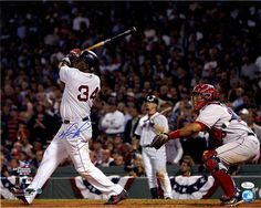 David Ortiz Signed Swing vs Angels 16x20 Photo JSA