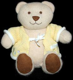 "Dota Manhattan Toy Europe Plush Knit Bear Yellow Sweater Soft Toy 11"" Stuffed #ManhattanToyEurope"