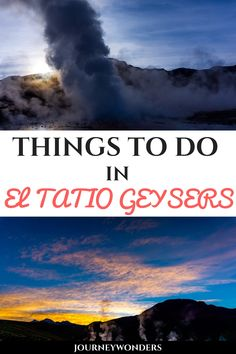 El Tatio Geysers is one of the Chile's best destinations. Here's an article with all you need to know to experience sunrise at El Tatio Geysers in Atacama. Best Of Journey, Stuff To Do, Things To Do, Travel Articles, Culture Travel, Amazing Destinations, South America, Peru, Need To Know