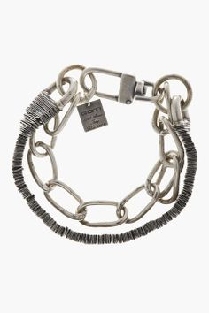GOTI Silver Double Chain Bracelet