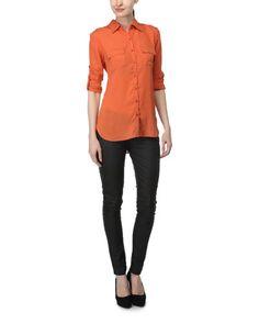 ALI & KRIS (Women) Mango Chiffon Shirt | eBay