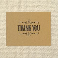 Match to invitations - DIY Kraft Paper Thank You Card  Handlettered by AmyAdamsPrintables, $15.00