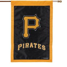 """Pittsburgh Pirates 28"""" x 44"""" Applique Double-Sided House Flag"""
