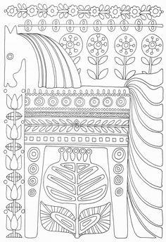 Scandinavian Coloring Book Pg 49