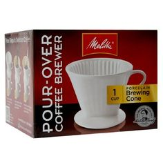 Melitta Coffee Brewer Pour-Over-Porcelain Coffee Brewer, Coffee Cups, Pour Over Coffee, Walgreens Photo, Perfect Cup, Coffee Machine, Program Design, Brewing, Porcelain