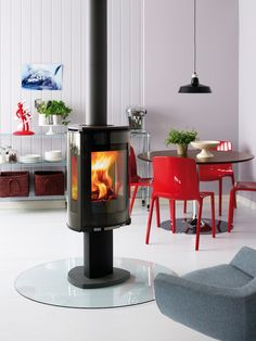 "Jøtul Fl 373  ""Jøtul is one of the world's oldest producers of stoves, inserts and fireplaces. Building on a proud Norwegian heritage, we have combined fine craftsmanship with the art of coping with the cold for 150 years.""  (Source: www.jotul.com)"