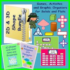 This is a geometry combo of my 2D and 3D Shape products. It includes my 2D Shapes, Lines and Squiggles Activity Pack, my 3D Shape Memory Card Gam...