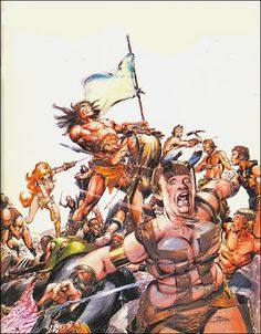 Conan and Red Sonja by Neal Adams.