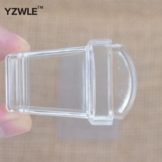 1sets NEW Pure Clear Jelly Silicone Nail Art Stamper Scraper Sets Transparent Polish Print Nail Stamping Tools GD-07
