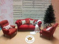 1/12 Scale miniature sofa and chairs