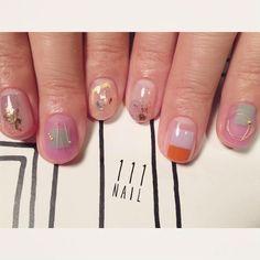▫️◽️◻️⬜️✨ #nail#art#nailart#ネイル#ネイルアート #クリアネイル#colorful#cute#contemporary#ショートネイル#ネイルサロン#nailsalon#表参道#ワイヤーネイル111#クリアネイル111