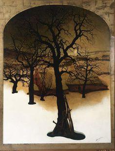 poboh:  De Groote Perelaar Te Tieghem, Valerius de Saedeleer. Belgian (1876 - 1946)  - Oil on Paper laid down on Canvas -