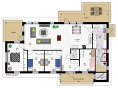 Emilia 128 My House, House Plans, Floor Plans, Layout, Flooring, How To Plan, Architecture, Koti, Ideas