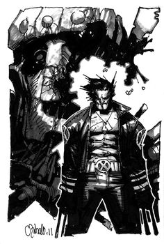 New X-men Wolverine Commission by Chris Bachalo WOLVIE Comic Art