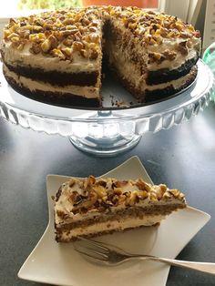 Avokádové brownies s čokoládou a vlašskými ořechy Tiramisu, Brownies, French Toast, Cheesecake, Vegetarian, Breakfast, Ethnic Recipes, Fitness, Mascarpone