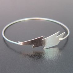 Silver Lightning Bracelet - Lightning Bolt Jewelry - This is a striking, zapping lighting bolt! I transformed it into a stylish silver lightning
